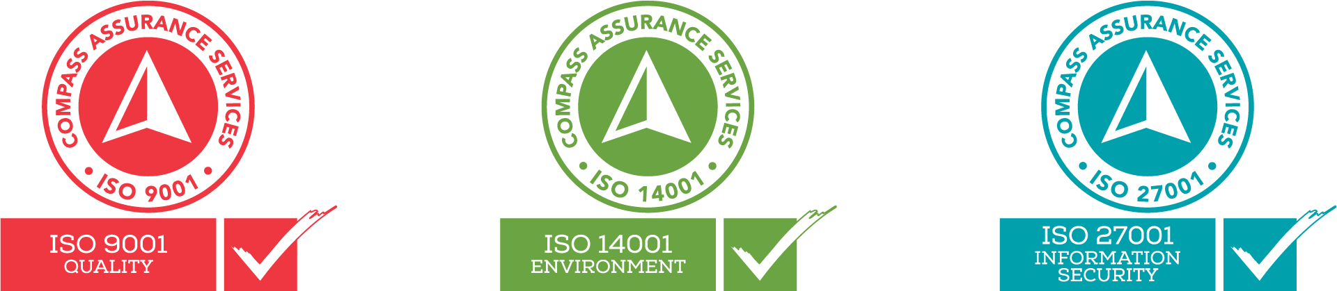 ISO Certifiication 9001 Quality, 14001 Envornment, 27001 Security